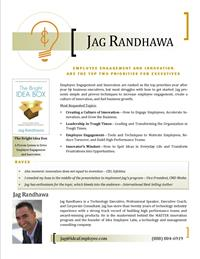 Jag Randhawa - Speaker One-Sheet